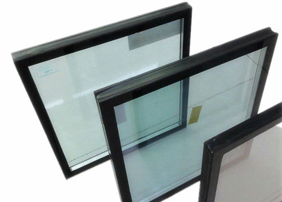 Double Silver Low E Insulated Glass , Energy Saving Building Glass Thickness Customized