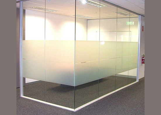High Grade Decorative Tempered Glass / Frosted Toughened Glass With Smooth Pattern